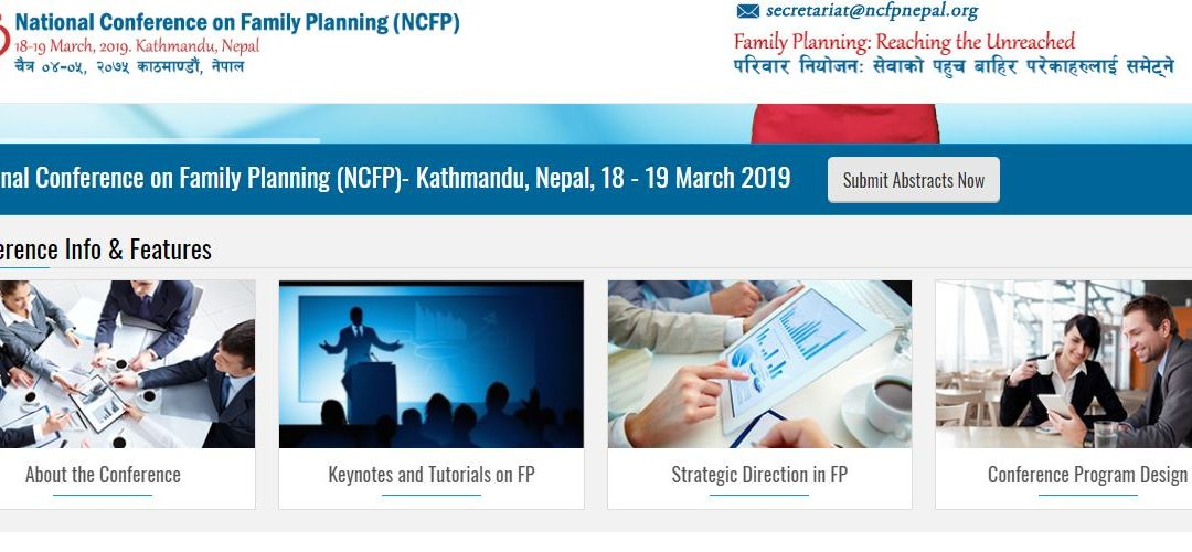Website of National Conference on Family Planning Launched